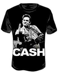 Johnny Cash T-Shirt Flippin - in Größe M