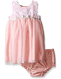 Little Me Baby Girls' Mesh Dress and Panty Set
