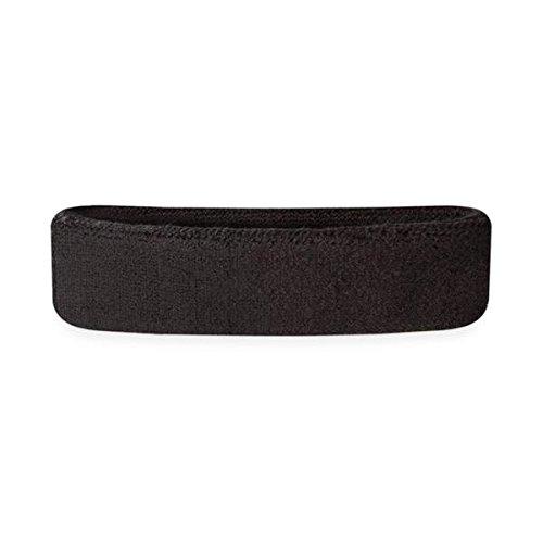 Suddora Schweißbänder, für den Kopf, für Kinder, Baumwolle, Frottee, für Sport - Schwarz