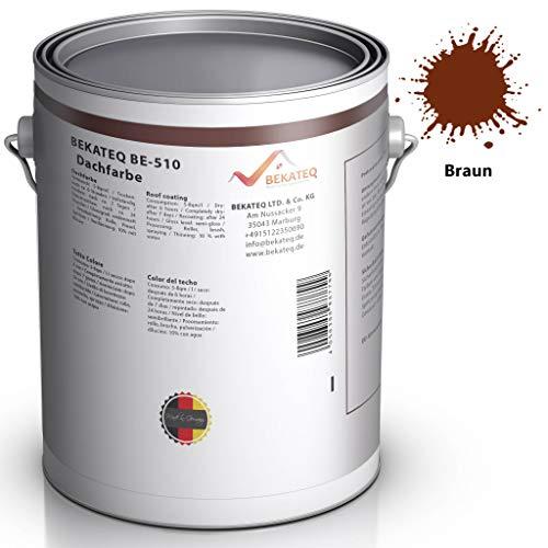 BEKATEQ BE-510 Dachbeschichtung seidenmatt Dachfarbe für diverse Arten von Dächern (Braun / 1L)