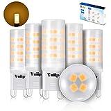 Yuiip G9 LED Lampe, LED G9 Leuchtmittel warmweiß 3000K, 3w G9 led glühbirne 420LM, Nicht Dimmbar,Ersatz für 28W 33W 40W G9 Halogen lampen, 100-240V AC,15.5x51mm,360 Grad Winkel,CRI> 83,5er Pack