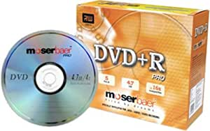 Moser Baer DVD+RW Pro 5 Pack With Jewel Case