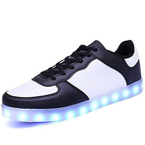 Sneakers LED Light Up Esclusive per Scarpe da Ginnastica Luminose da Donna da Uomo Scarpe da Ginnastica Lampeggianti USB per Bambini Ragazze(Nero EU 25)