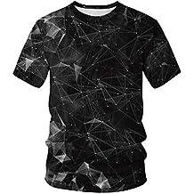 YuanDian Uomo Donna Coppie Estate Maniche Corte Magliette Stampa Digitale 3D T Shirt Girocollo Dimensione UE Elastico Morbido Traspirante Asciugatura Veloce Tee Top Camicetta