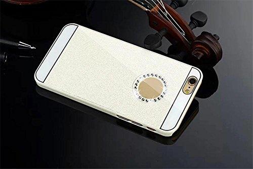 For iPhone 6 Plus / 6S Plus Hülle, Ouneed Bling Glitzer Funkeln Voll Körper Sticker Vorder- und Rückseite Film Protektor Haut für iphone 6 plus /6s Plus 5.5 Inch (Weiß) Weiß