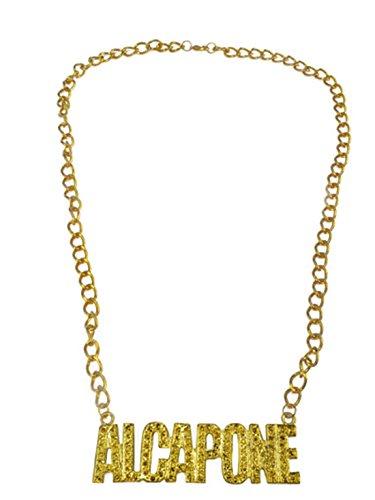 Confettery - Kostüm Accessoire Mottoparty Mafia- Gangster Metall Al Capone Goldkette, Gold