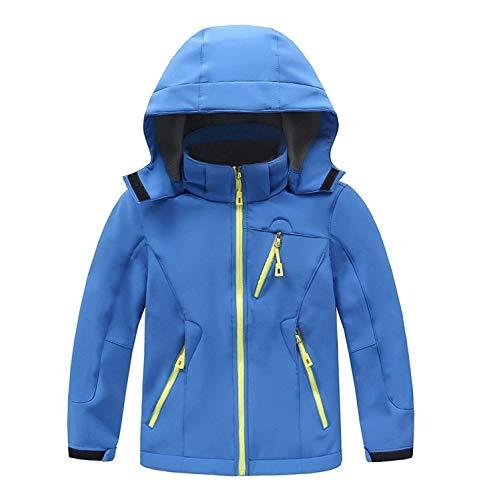 SANKE Jungen Mädchen Winter Warme Mantel Kinder Fleece Gefüttert Softshell Hoodies Jacke | 07444550050789