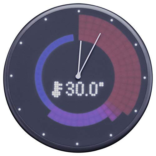 Glance Clock smarte Wanduhr Bluetooth Smart Clock LED iOS Android Black