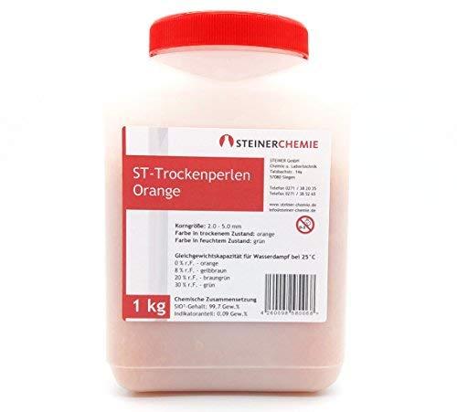 ST-Trockenperlen Orange, (Silikagel, Trockenmittel), regenerierbar, 1 kg