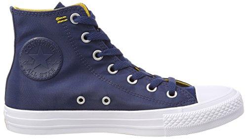 Converse Ctas Hi, Baskets Hautes Mixte Adulte, Bleu Blau (Navy/mineral yellow/White)