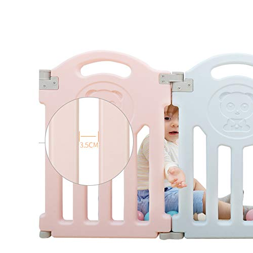 CL-* Protective Fence Home Use Safety Fence Children's Game Fence Baby Indoor Learning Walk Railing Child Playpen (Size : 224 * 261cm)