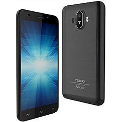"""TEENO Téléphone Portable Débloqué 5.0"""" HD IPS Smartphone 4G Pas Cher 1Go RAM 8Go ROM (Android Double SIM Slot Double Caméras Quad Core) (K5-Noir)"""