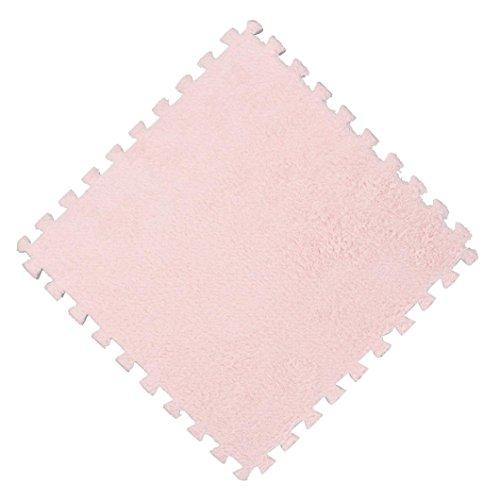 Komise 25 * 25 * 1 cm Kinder Teppich Schaum Puzzle Matte EVA Shaggy Samt Baby Eco Boden 7 farben (Farbe B)