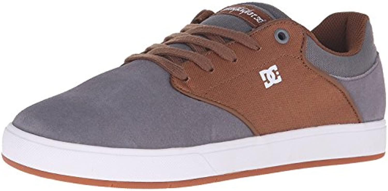 DC Men's Mikey Taylor Skateboarding Shoe, Carb?n/Blanco, 38.5 D(M) EU/5.5 D(M) UK