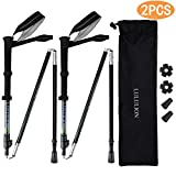 iBaseToy LULULION Telescopic Collapsible Trekking Poles,Ultralight Adjustable Aluminum Hiking Sticks for Walking, Outdoor