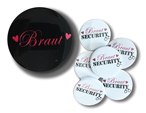 Braut Security und Braut Abzeichen - Packung von 7 (Abzeichen Security)
