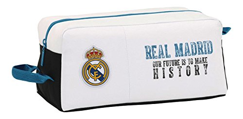 Real Madrid 11754 Bolsa para Zapatos, 34 cm, Blanco