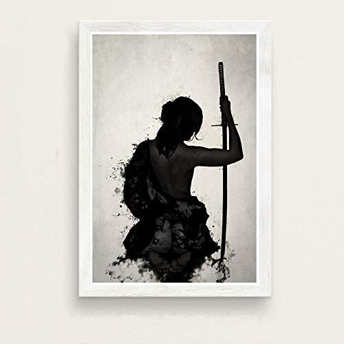 zxddzl Japanische Kunst malerei Seide leinwand Poster Wand Dekoration 31 30 * 42 -