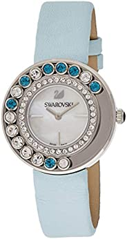 Swarovski Women's Quartz Watch, Analog Display and Leather Strap 1187024, Silver
