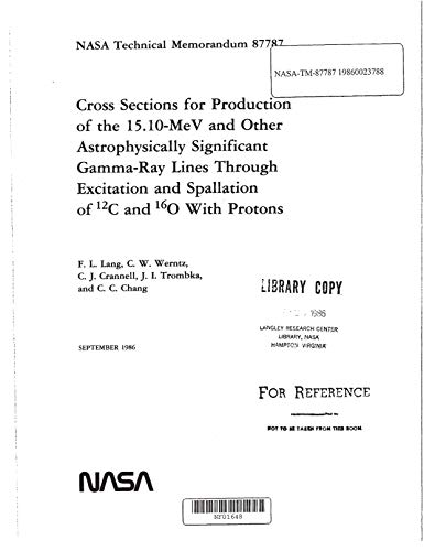Cross sections for production of the 15.10 MeV and other astrophysically significant gamma-ray lines through excitation and spallation of sup 12 C and sup 16 O with protons (English Edition)