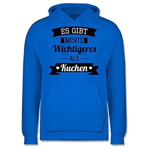 Statement Shirts - Es gibt nichts Wichtigeres als Kuchen - Männer Premium Kapuzenpullover / Hoodie Himmelblau