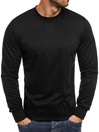 ozonee-herren-sweatshirt-langarmshirt-sweats-longsleeve-sweatjacke-street-star-7039-schwarz-2xl