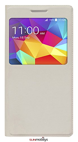Sun Mobisys™; Samsung Galaxy Core Prime Flip Cover; Flip Cover for Samsung Galaxy Core Prime G360 White  available at amazon for Rs.149