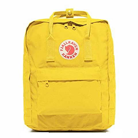 Bovake Unisex Fashion Classics Rucksack Handtaschen Studenten Schulranzen 16L (Yellow)