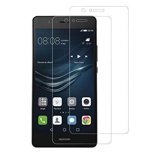 Snnisttek [2 Unidades] Protector de Pantalla Huawei P9, 9H Dureza Cristal Vidrio Templado para Huawei P9, 0.33mm Ultra Transparencia HD, 3D Touch Compatibles, Instalación Fácil