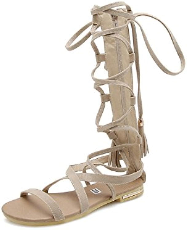 Femme  s/Bout Ouvert/Spartiates Fermé/Chaussures Femme/Bout Fermé/Chaussures Ouvert/Spartiates pour Femmes de Grande Taille, Bandages,  s...B07F9PBPTWParent 75a972