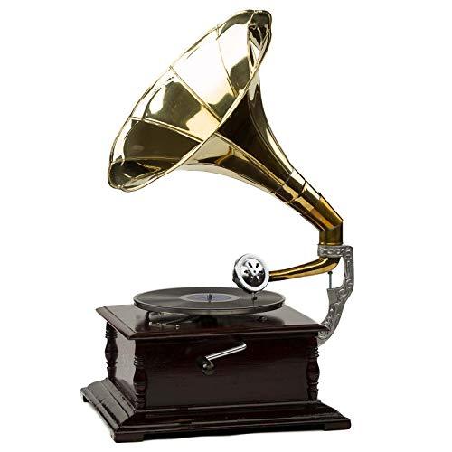 Grammophon 4-eckig Trichter Gramofon Phonograph Schellackplatten Gramophone Top Grammophone Musikinstrumente