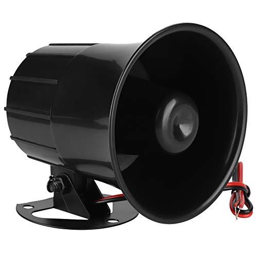 Bocina de Alarma de Sirena de Alarma de Seguridad al Aire Libre de Tweeter de 12 V para Sistema de protección de Seguridad para el hogar en Interiores/Exteriores, 110dB