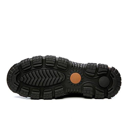 Uomo Retro Scarpe da lavoro Spessore inferiore Scarpe casual traspirante Antiscivolo Martin stivali Scarpe da trekking euro DIMENSIONE 38-44 Black