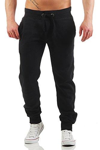 b8af398d3014 Herren Jogginghose mit Reißverschluss Slim Fit, Größe M, Farbe Schwarz