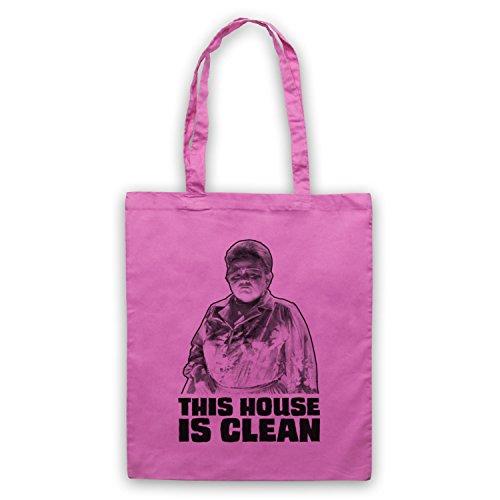 Inspiriert durch Poltergeist This House Is Clean Inoffiziell Umhangetaschen Rosa