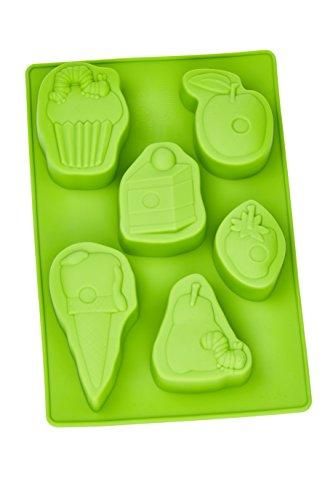 Raupe Nimmersatt Muffinbackform, Silikon, Grün 27 x 18 x 3 cm