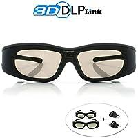 "Gafas 3D DLP-Link ""Wave Xtra"" - 2 x Gafas con cargadores USB - Full HD 1080p - Triple Flash 144Hz - Compatibles con todos los proyectores 3D DLP"