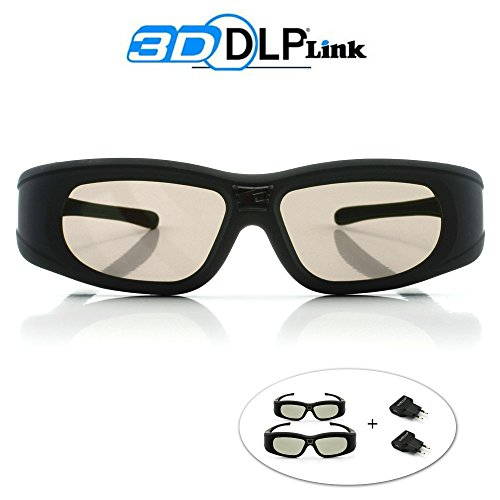 Tech'Import® 2x 3D Active Shutterbrille für 3D Beamer -