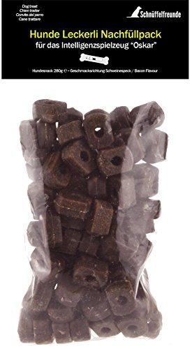 Schnüffelfreunde Hundeleckerli Hunde Snack Nachfüllpack für Kauknochen Oskar (Schweinespeck, für Knochen)