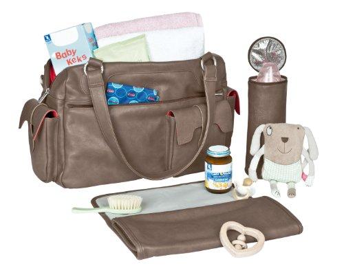 Lässig Tender Shoulder Bag Wickeltasche/Babytasche inkl. Wickelzubehör, hazel Stone