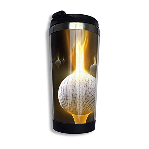 Coffee Thermos Cup Fire Golf Balls Stainless Steel Travel Mug Cup Sports Water Bottle (Scratch Golf Bälle)