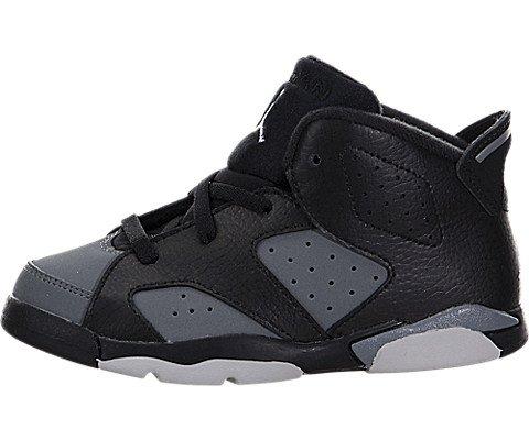 Nike Unisex Baby Jordan 6 Retro BT Sneaker, Black (Black (Schwarz/Weiß-Cool Grey)), 22 EU