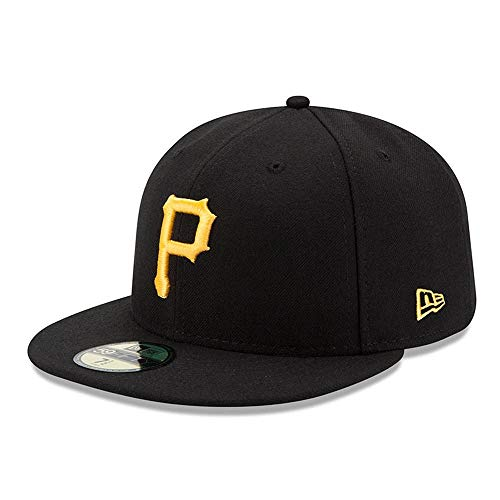 New Era Pittsburgh Pirates Authentic 59FIFTY Fitted MLB Cap Game, 7 -