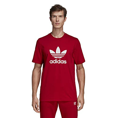 Adidas trefoil t-shirt, maglietta uomo, power rosso, l