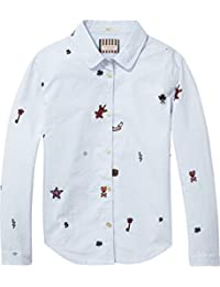 Scotch & Soda Embroidered Oxford Shirt, Blouse Fille