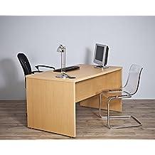 Intradisa - Mesa de despacho para oficina serie 9001 - 140x75x80, Acabado roble