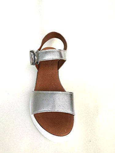 Sandali platform DV20052 in pelle con cinturino Divine Follie MainApps Argento