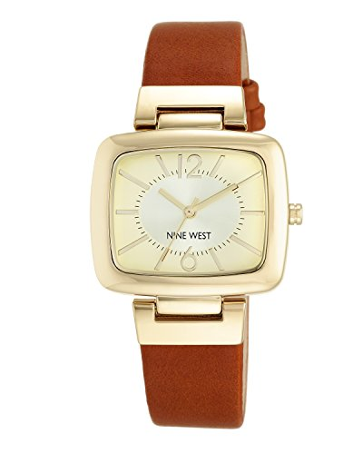 nine-west-womens-quartz-watch-with-beige-dial-analogue-display-and-brown-polyurethane-strap-nw-1840c
