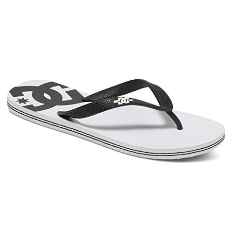 DC Shoes Herren Spray Zehentrenner WHITE/BLACK BASIC