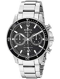 Bulova Men's 45mm Marine Star Stainless Steel Chronograph Bracelet Watch